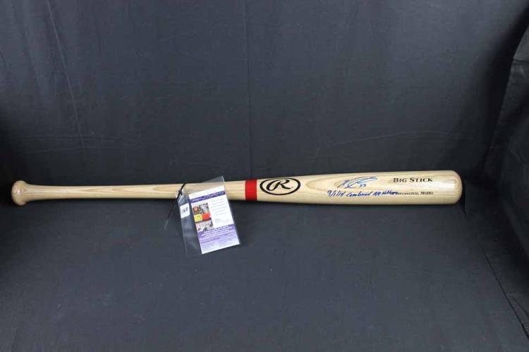 Autographed baseball bat: