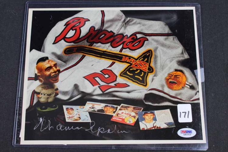 Autographed baseball photo: