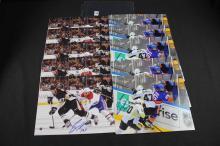 Autographed hockey photos: