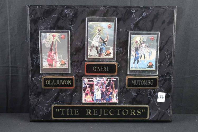 Basketball cards/plaque: