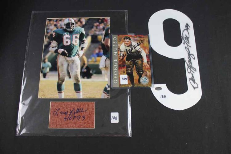 3 autographed football cards: