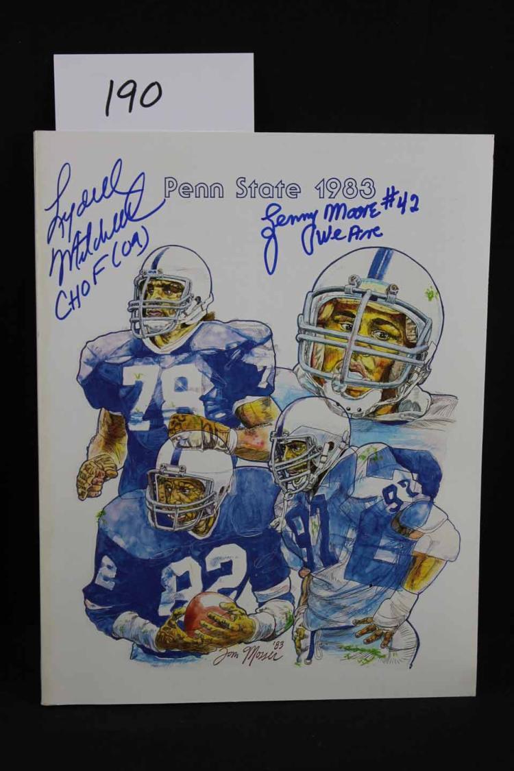 Autographed football program: