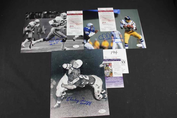 Autographed football/baseball photos: