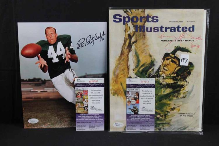 2 Autographed football publications: