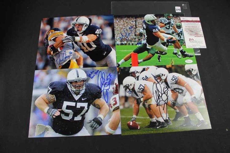 Autographed football photos: