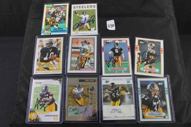 Autographed football cards: