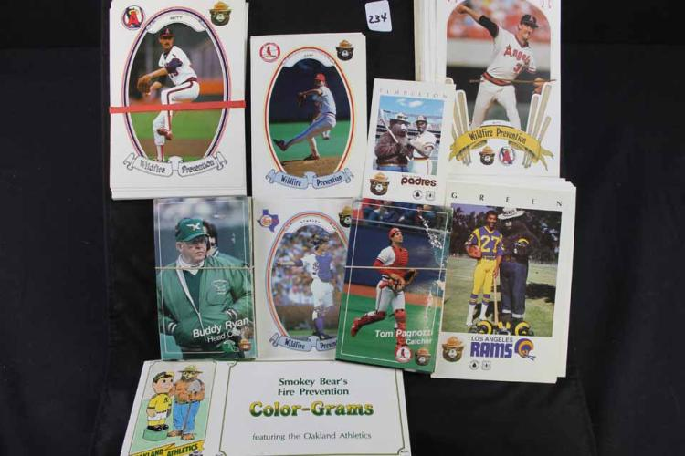 Baseball and football cards: