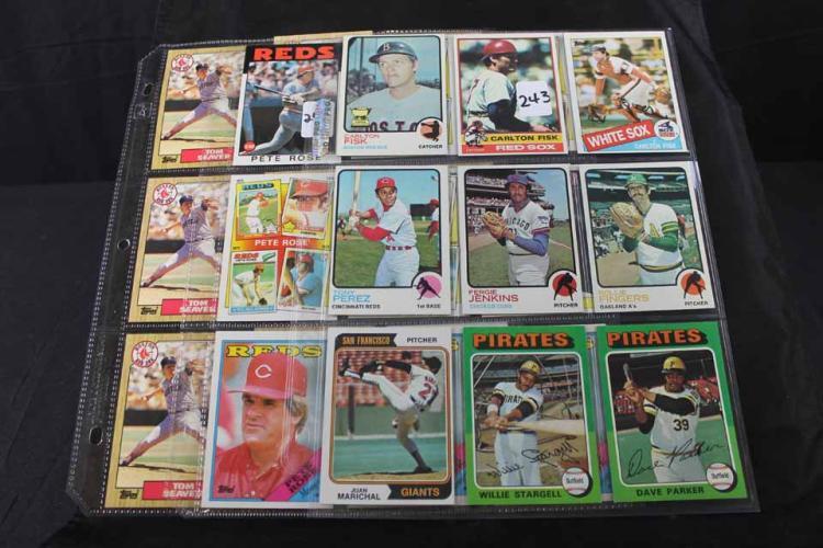 27 baseball cards: