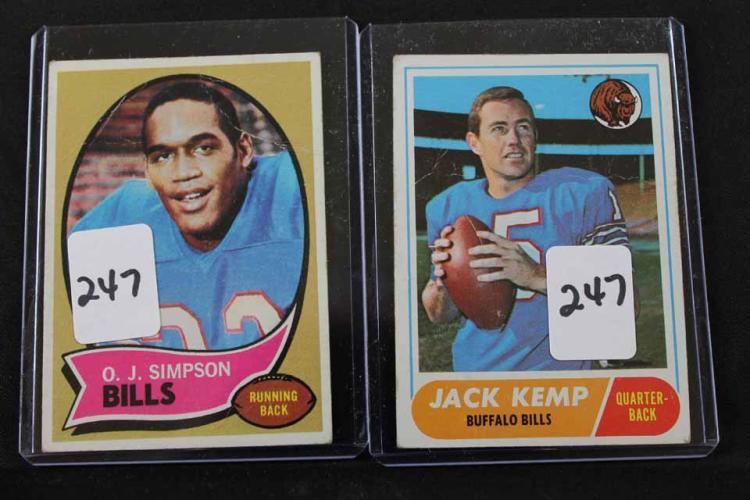 2 Football cards: