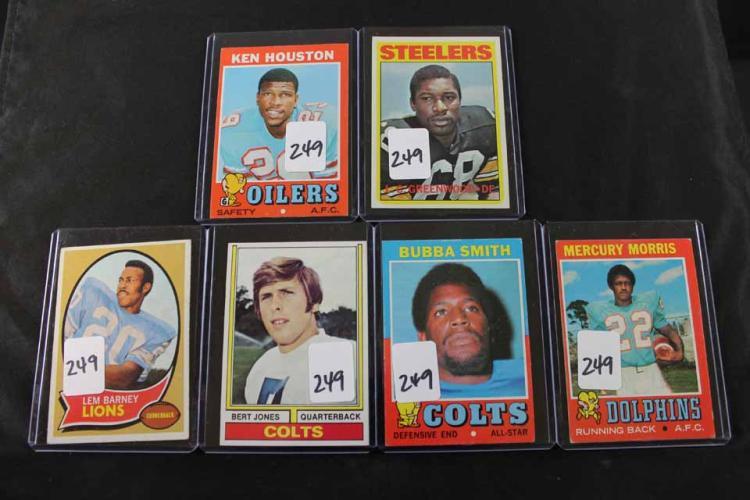 6 Football cards: