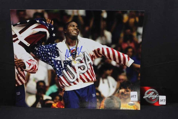 Autographed basketball photo: