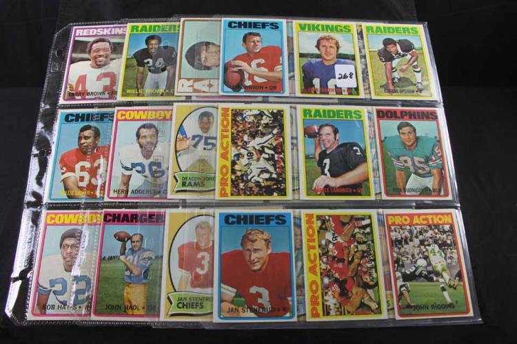 36 football cards: