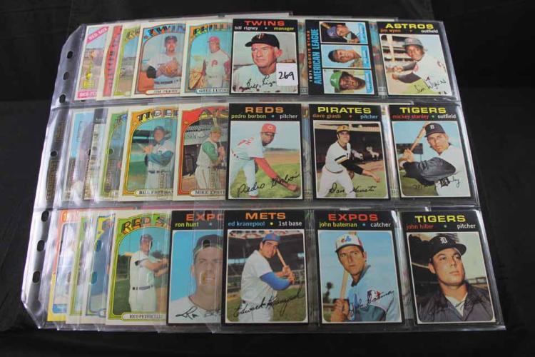 53 baseball cards: