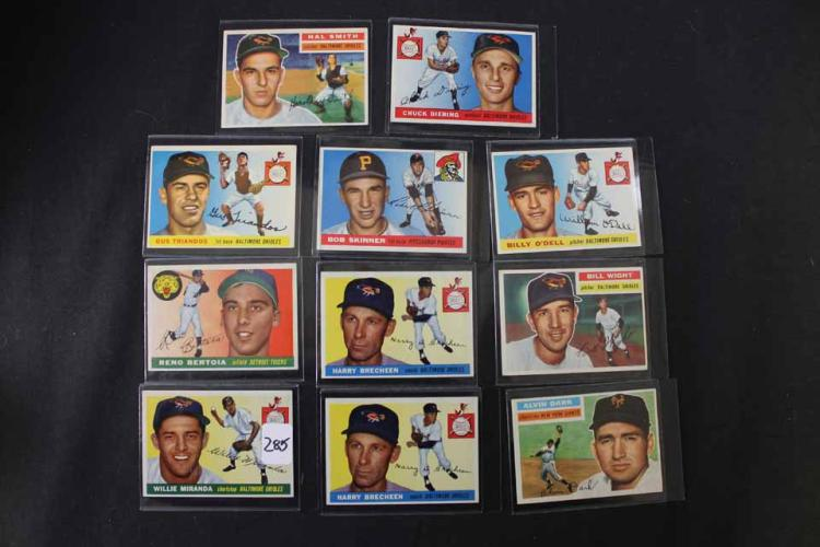 11 baseball cards: