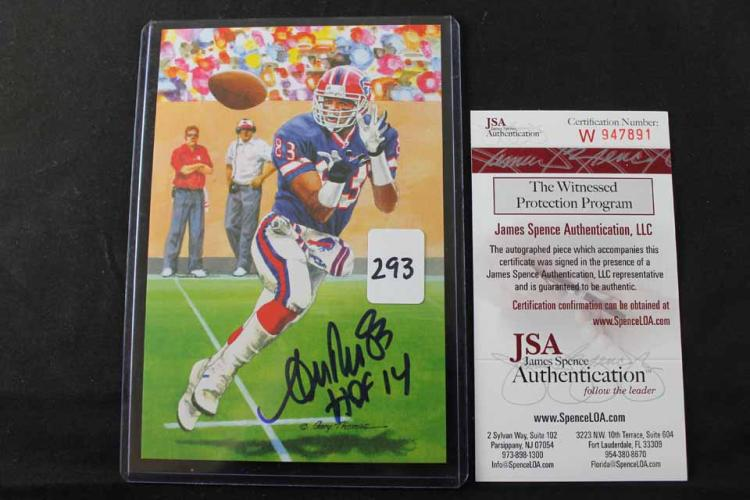 Autographed football card:
