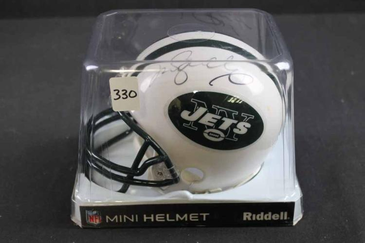 Autographed football mini helmet: