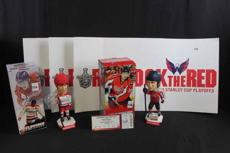 Hockey bobbleheads/signs: