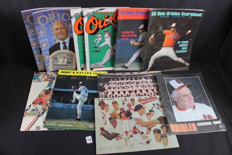 11 Balt. Orioles publications:
