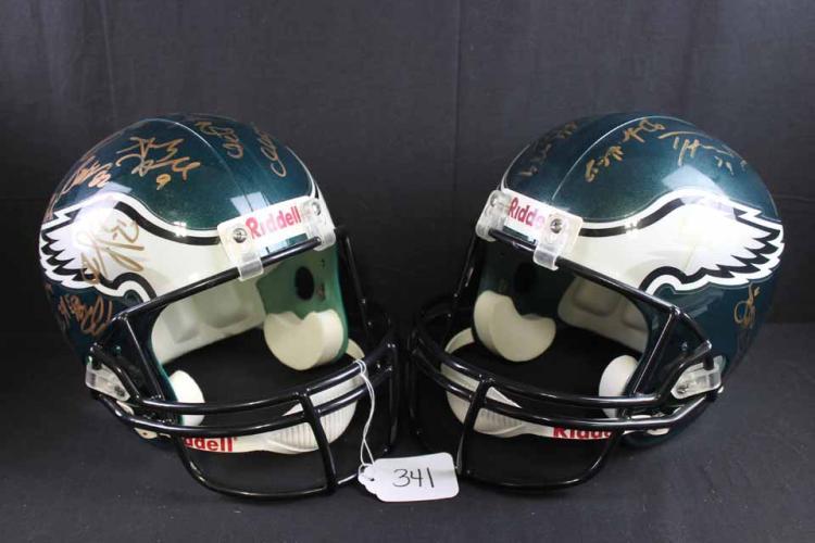 Autographed football helmets: