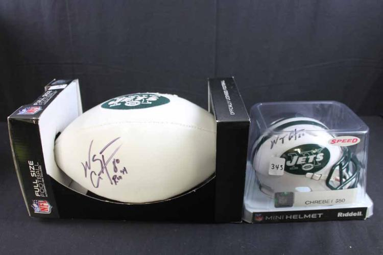 Autographed football/mini helmet: