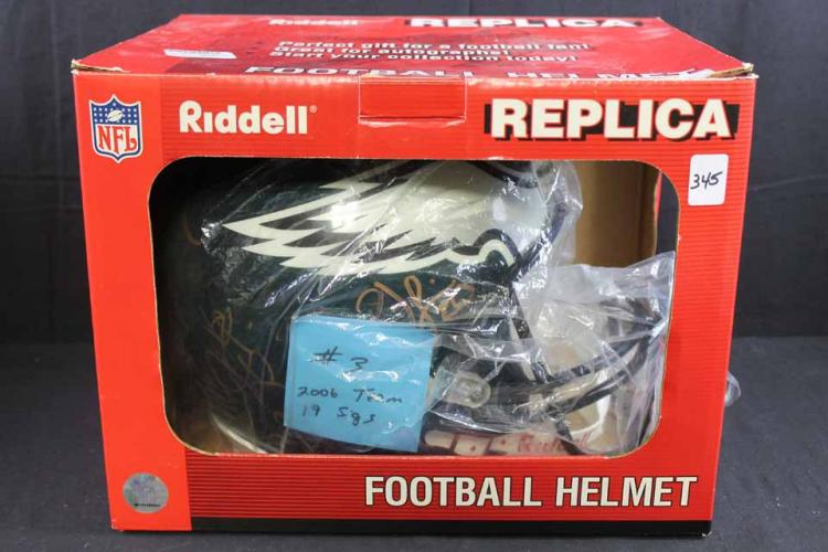 Autographed helmet:
