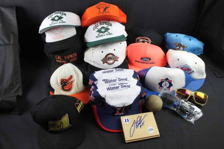 Basketball/baseball/racing memorabilia:
