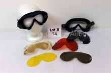 (2) Vintage Goggle  Frames: