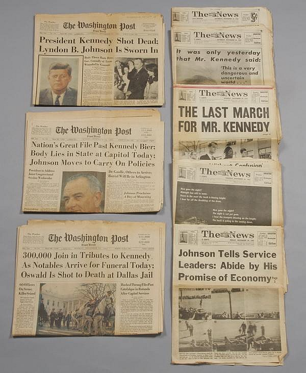 Coverage of Pres. Kennedy's assassination