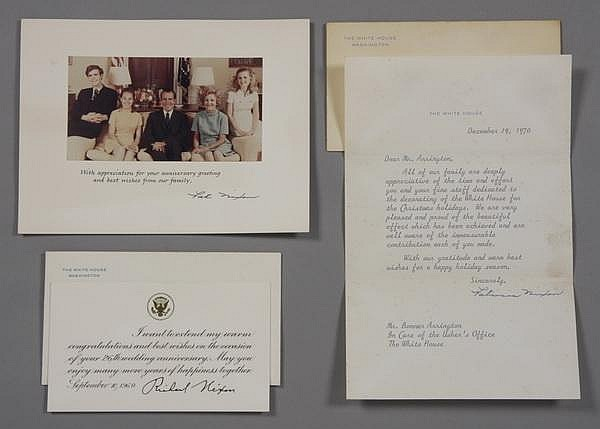 President and Mrs. Nixon signed notes