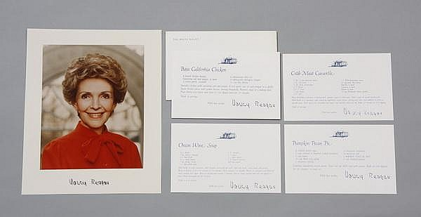 Nancy Reagan mementos w/ signed photo