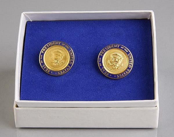 Pair of Presidential cufflinks