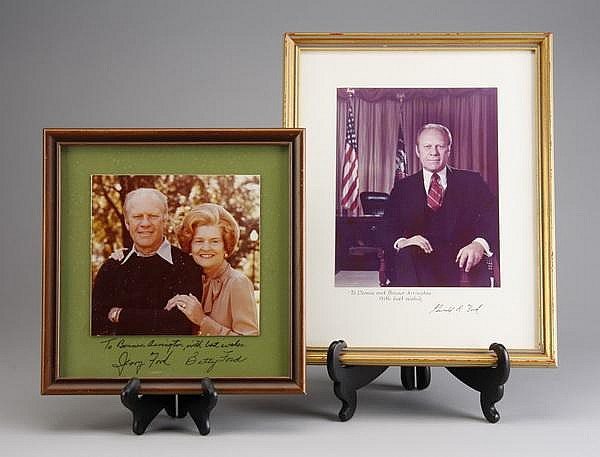 President and Mrs. Ford photos, signed