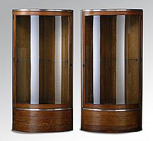 (2) Early 20th c. Art Deco style cabinets
