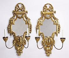 (2) Early 20th c. mirrored sconces