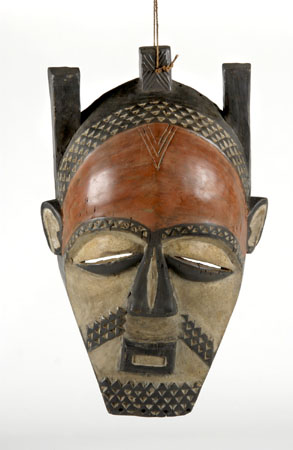 Vintage African tribal mask, 24