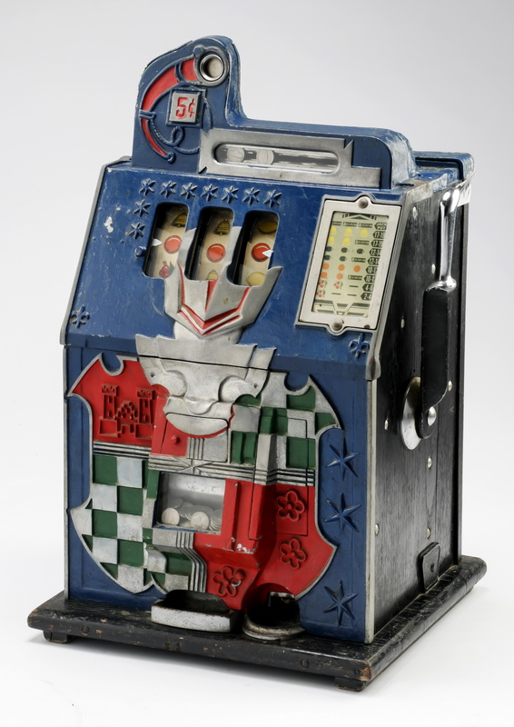 Mills 'Castle Front' 5 cent slot machine, circa 1930