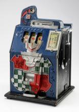 Mills 'Castle Front' 5 cent slot machine, circa 1930