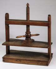 19th c. wooden book press, 33