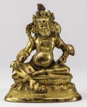 Tibetan style gilt guardian deity Vajrapani, 7