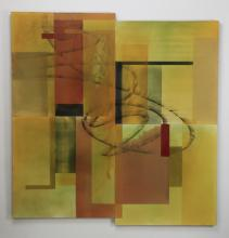 Howard Hersh signed O/c abstract, 60
