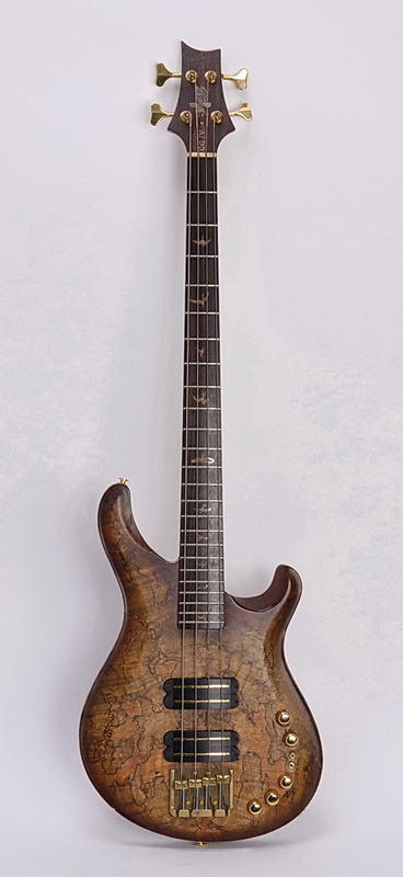 Paul Reed Smith cherry wood bass guitar w/case