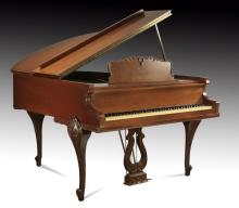 Winter & Co. baby grand piano and bench
