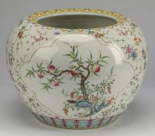 Chinese famille rose jar, Guangxu mark, 12