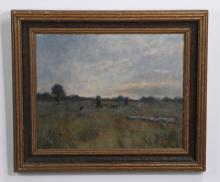 Kevin Partridge signed O/c grazing cattle, 26