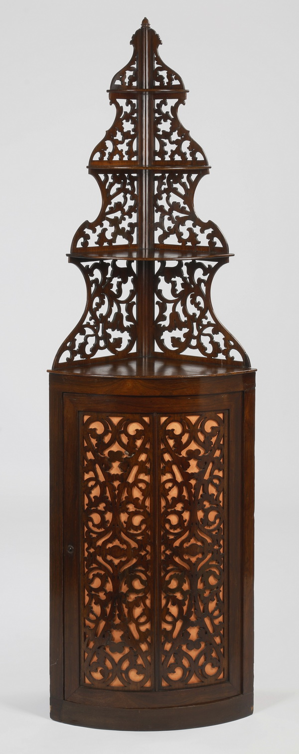 19th c. French rosewood corner etagere, 83
