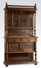 19th c. French carved walnut buffet, 88