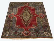 Hand knotted Kerman wool carpet, 13.5' x 10'