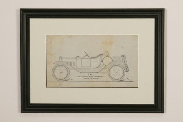 (4) Blue Ribbon Body Co. original auto renderings