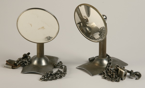 Pair of vintage side mounted truck mirrors