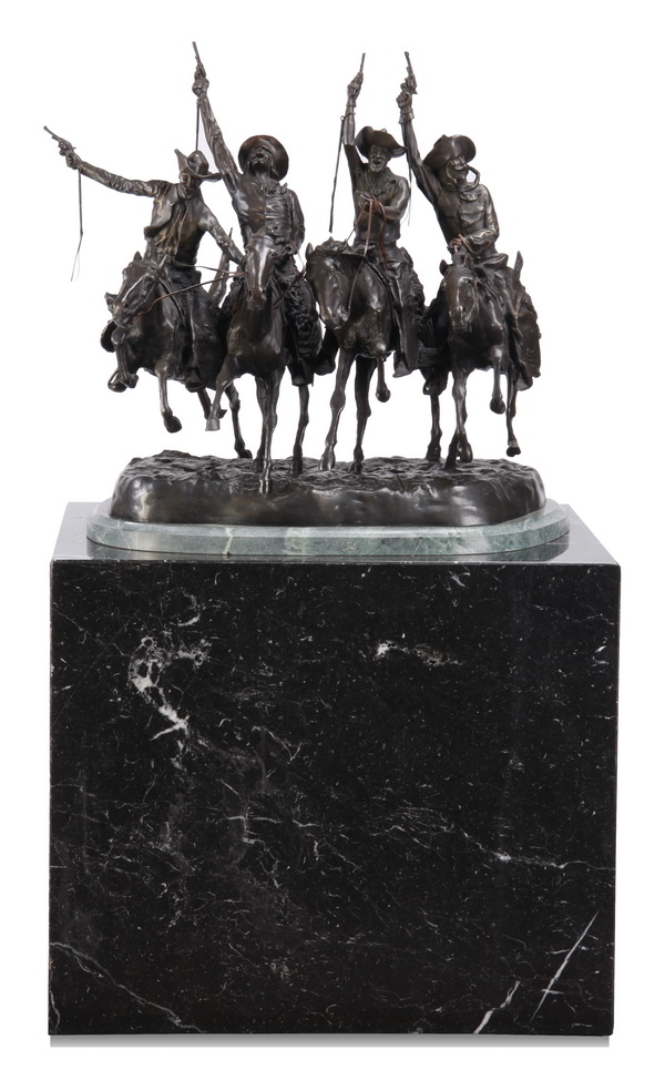 Oversized Remington sculpture with marble base